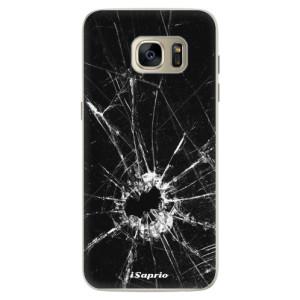 Silikonové pouzdro iSaprio (mléčně zakalené) Broken Glass 10 na mobil Samsung Galaxy S7