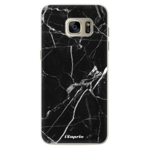 Silikonové pouzdro iSaprio (mléčně zakalené) Black Marble 18 na mobil Samsung Galaxy S7