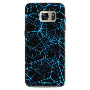 Silikonové pouzdro iSaprio (mléčně zakalené) Abstract Outlines 12 na mobil Samsung Galaxy S7