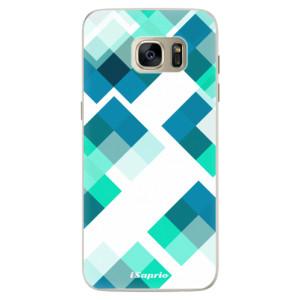 Silikonové pouzdro iSaprio (mléčně zakalené) Abstract Squares 11 na mobil Samsung Galaxy S7