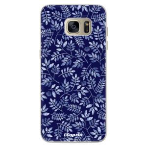 Silikonové pouzdro iSaprio (mléčně zakalené) Blue Leaves 05 na mobil Samsung Galaxy S7