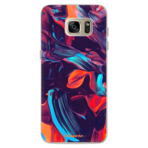 Silikonové pouzdro iSaprio (mléčně zakalené) Barevný mramor 19 na mobil Samsung Galaxy S7