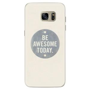 Silikonové pouzdro iSaprio (mléčně zakalené) Awesome 02 na mobil Samsung Galaxy S7