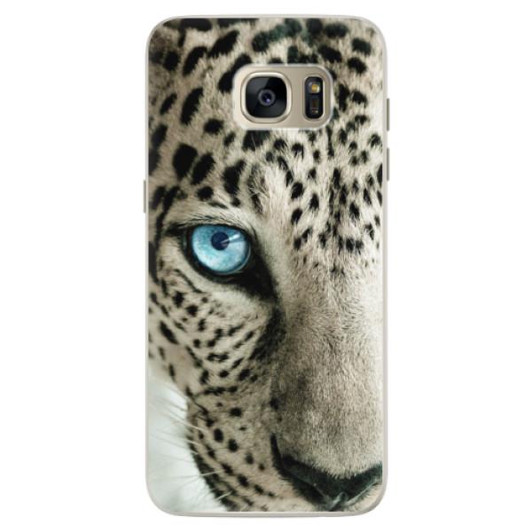 Silikonové pouzdro iSaprio (mléčně zakalené) Bílý Panther na mobil Samsung Galaxy S7 (Silikonový kryt, obal, pouzdro iSaprio (podkladové pouzdro není čiré, ale lehce mléčně zakalené) Bílý Panther na mobilní telefon Samsung Galaxy S7)