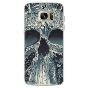 Silikonové pouzdro iSaprio (mléčně zakalené) Abstract Skull na mobil Samsung Galaxy S7