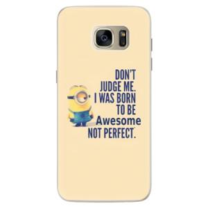 Silikonové pouzdro iSaprio (mléčně zakalené) Be Awesome na mobil Samsung Galaxy S7