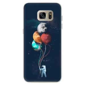 Silikonové pouzdro iSaprio (mléčně zakalené) Balónky 02 na mobil Samsung Galaxy S7