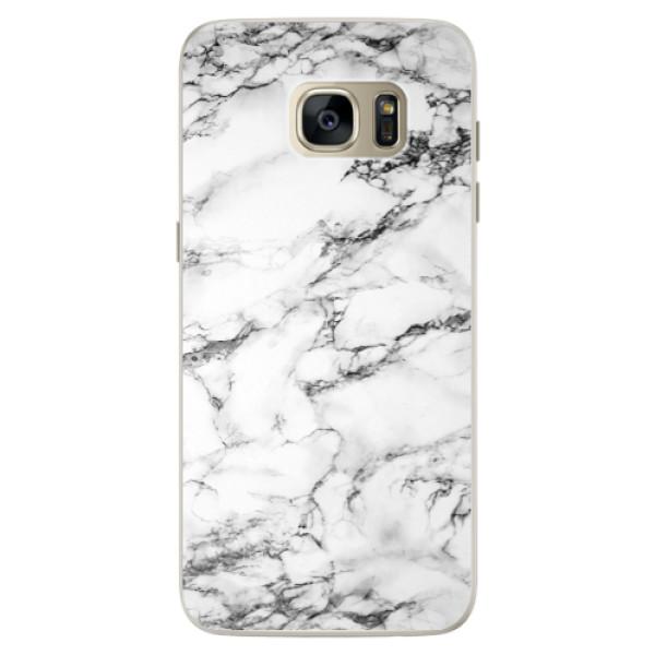 Silikonové pouzdro iSaprio (mléčně zakalené) Bílý Mramor 01 na mobil Samsung Galaxy S7 (Silikonový kryt, obal, pouzdro iSaprio (podkladové pouzdro není čiré, ale lehce mléčně zakalené) Bílý Mramor 01 na mobilní telefon Samsung Galaxy S7)