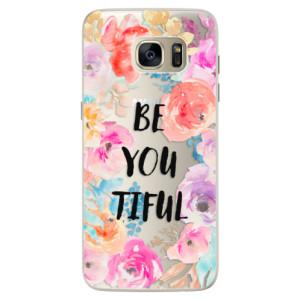 Silikonové pouzdro iSaprio (mléčně zakalené) BeYouTiful na mobil Samsung Galaxy S7