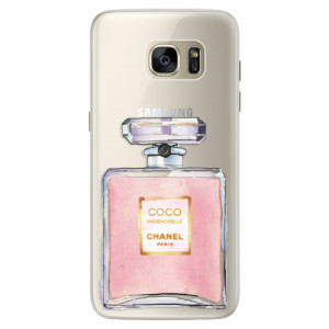 Silikonové pouzdro iSaprio (mléčně zakalené) Chanel Rose na mobil Samsung Galaxy S7