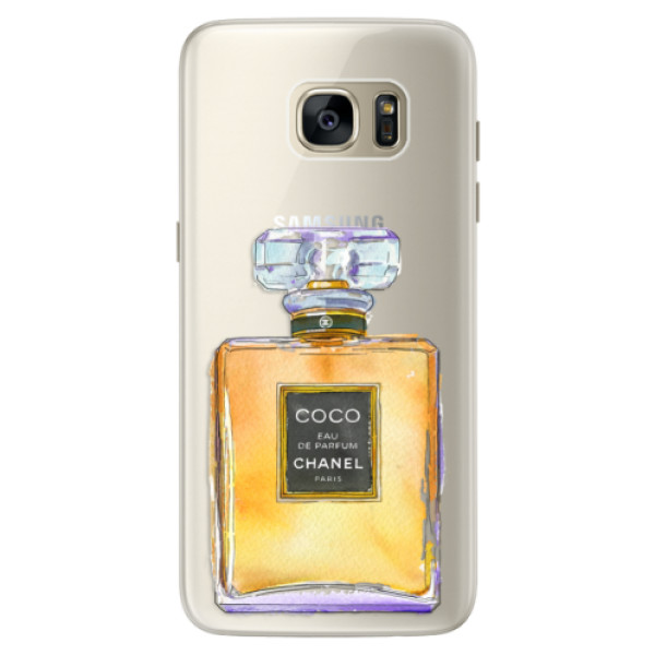 Silikonové pouzdro iSaprio (mléčně zakalené) Chanel Gold na mobil Samsung Galaxy S7 (Silikonový kryt, obal, pouzdro iSaprio (podkladové pouzdro není čiré, ale lehce mléčně zakalené) Chanel Gold na mobilní telefon Samsung Galaxy S7)