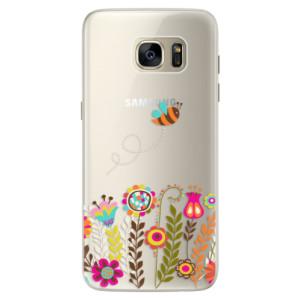 Silikonové pouzdro iSaprio (mléčně zakalené) Včelka Pája 01 na mobil Samsung Galaxy S7