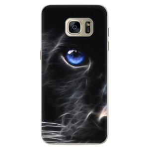 Silikonové pouzdro iSaprio (mléčně zakalené) Black Puma na mobil Samsung Galaxy S7