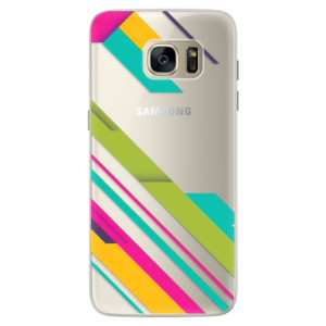 Silikonové pouzdro iSaprio (mléčně zakalené) Barevné Pruhy 03 na mobil Samsung Galaxy S7
