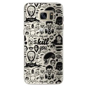 Silikonové pouzdro iSaprio (mléčně zakalené) Komiks 01 black na mobil Samsung Galaxy S7