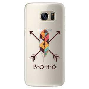 Silikonové pouzdro iSaprio (mléčně zakalené) BOHO na mobil Samsung Galaxy S7