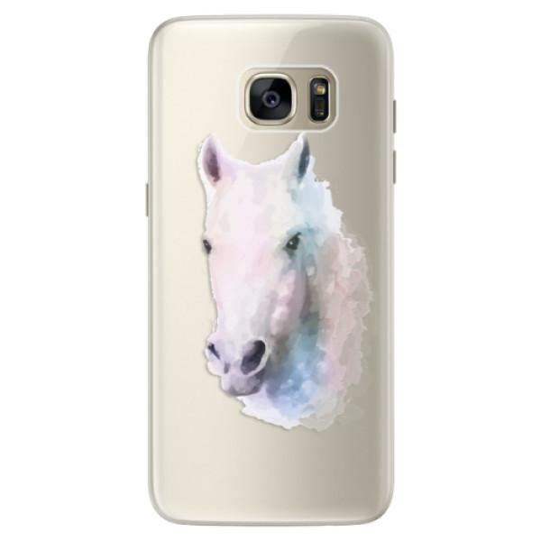Silikonové pouzdro iSaprio (mléčně zakalené) Bílý kůň 01 na mobil Samsung Galaxy S7 (Silikonový kryt, obal, pouzdro iSaprio (podkladové pouzdro není čiré, ale lehce mléčně zakalené) Bílý kůň 01 na mobilní telefon Samsung Galaxy S7)
