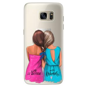 Silikonové pouzdro iSaprio (mléčně zakalené) Best Friends na mobil Samsung Galaxy S7