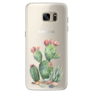 Silikonové pouzdro iSaprio (mléčně zakalené) Kaktusy 01 na mobil Samsung Galaxy S7