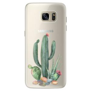 Silikonové pouzdro iSaprio (mléčně zakalené) Kaktusy 02 na mobil Samsung Galaxy S7