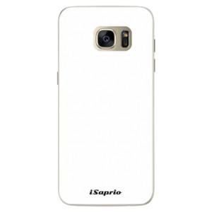 Silikonové pouzdro iSaprio 4Pure bílé na mobil Samsung Galaxy S7