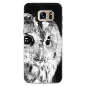 Silikonové pouzdro iSaprio (mléčně zakalené) BW Sova na mobil Samsung Galaxy S7