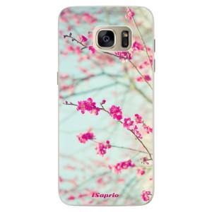 Silikonové pouzdro iSaprio (mléčně zakalené) Blossom 01 na mobil Samsung Galaxy S7 Edge