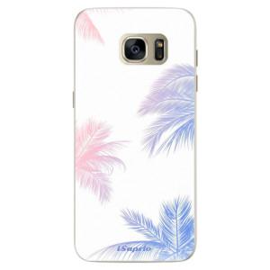 Silikonové pouzdro iSaprio (mléčně zakalené) Palmy 10 na mobil Samsung Galaxy S7 Edge