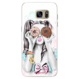 Silikonové pouzdro iSaprio (mléčně zakalené) Donutky Očiska 10 na mobil Samsung Galaxy S7 Edge