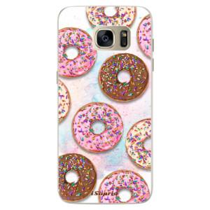 Silikonové pouzdro iSaprio (mléčně zakalené) Donutky Všude 11 na mobil Samsung Galaxy S7 Edge