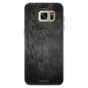 Silikonové pouzdro iSaprio (mléčně zakalené) Black Wood 13 na mobil Samsung Galaxy S7 Edge