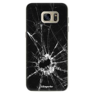 Silikonové pouzdro iSaprio (mléčně zakalené) Broken Glass 10 na mobil Samsung Galaxy S7 Edge
