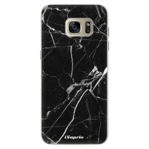 Silikonové pouzdro iSaprio (mléčně zakalené) Black Marble 18 na mobil Samsung Galaxy S7 Edge
