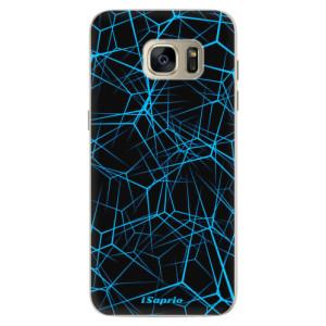 Silikonové pouzdro iSaprio (mléčně zakalené) Abstract Outlines 12 na mobil Samsung Galaxy S7 Edge