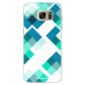 Silikonové pouzdro iSaprio (mléčně zakalené) Abstract Squares 11 na mobil Samsung Galaxy S7 Edge