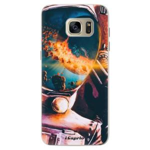 Silikonové pouzdro iSaprio (mléčně zakalené) Astronaut 01 na mobil Samsung Galaxy S7 Edge