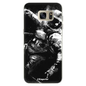 Silikonové pouzdro iSaprio (mléčně zakalené) Astronaut 02 na mobil Samsung Galaxy S7 Edge