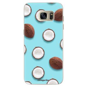 Silikonové pouzdro iSaprio (mléčně zakalené) Kokos 01 na mobil Samsung Galaxy S7 Edge