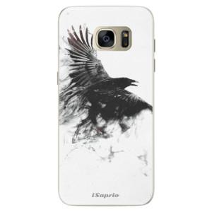 Silikonové pouzdro iSaprio (mléčně zakalené) Havran 01 na mobil Samsung Galaxy S7 Edge