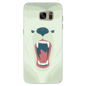 Silikonové pouzdro iSaprio (mléčně zakalené) Naštvanej Medvěd na mobil Samsung Galaxy S7 Edge