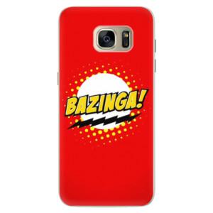 Silikonové pouzdro iSaprio (mléčně zakalené) Bazinga 01 na mobil Samsung Galaxy S7 Edge