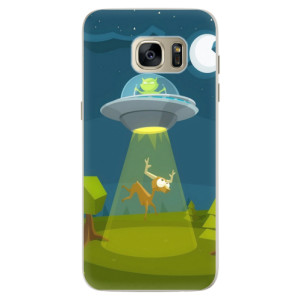 Silikonové pouzdro iSaprio (mléčně zakalené) Ufouni 01 na mobil Samsung Galaxy S7 Edge