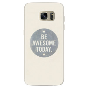 Silikonové pouzdro iSaprio (mléčně zakalené) Awesome 02 na mobil Samsung Galaxy S7 Edge