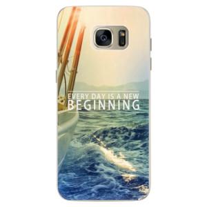 Silikonové pouzdro iSaprio (mléčně zakalené) Beginning na mobil Samsung Galaxy S7 Edge