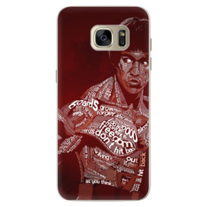 Silikonové pouzdro iSaprio (mléčně zakalené) Bruce Lee na mobil Samsung Galaxy S7 Edge