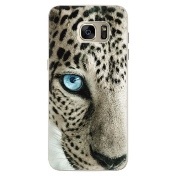 Silikonové pouzdro iSaprio (mléčně zakalené) Bílý Panther na mobil Samsung Galaxy S7 Edge (Silikonový kryt, obal, pouzdro iSaprio (podkladové pouzdro není čiré, ale lehce mléčně zakalené) Bílý Panther na mobilní telefon Samsung Galaxy S7 Edge)
