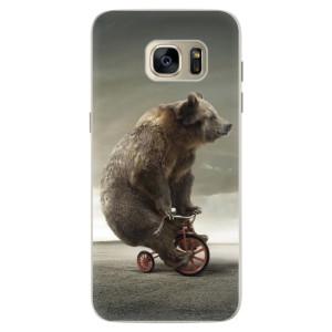 Silikonové pouzdro iSaprio (mléčně zakalené) Medvěd 01 na mobil Samsung Galaxy S7 Edge