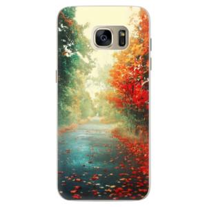 Silikonové pouzdro iSaprio (mléčně zakalené) Podzim 03 na mobil Samsung Galaxy S7 Edge