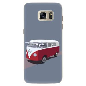 Silikonové pouzdro iSaprio (mléčně zakalené) VW Bus na mobil Samsung Galaxy S7 Edge