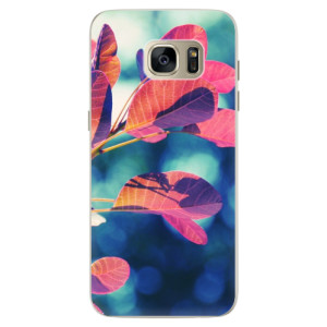 Silikonové pouzdro iSaprio (mléčně zakalené) Podzim 01 na mobil Samsung Galaxy S7 Edge